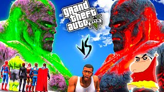 SHINCHAN &amp AVENGERS VS GIANT ICE GOD TITAN Hindi  GTA V GAMEPLAY  PART 7   Team4SHOOTER