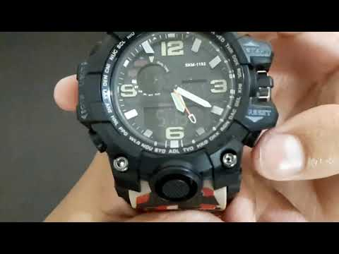 SKMEI Watch - Unboxing And Features (Hindi)   SKMEI 1155   How To Set Time Date Week Month Of SKMEI