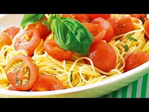 プチトマトの冷製パスタ