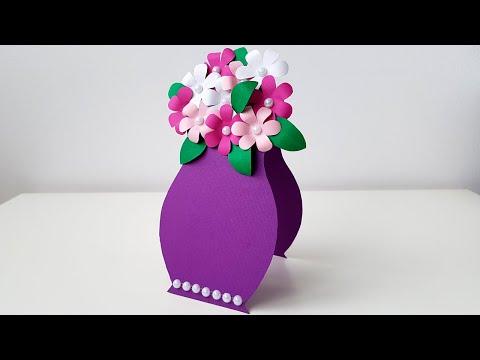 3D Открытка на День Матери своими руками Цветы из бумаги Подарок для мамы Поделки Mother's Day card