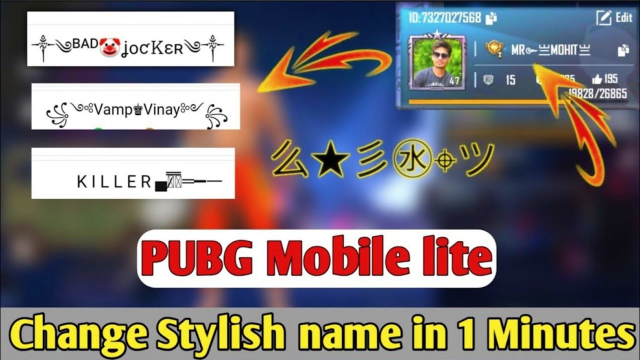 Download How to change Stylish name in PUBG Mobile lite || PUBG me stylish name kaise likhe