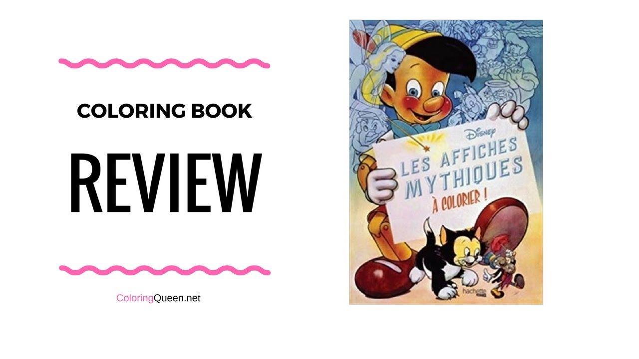 Les affiches mythiques Disney à colorier -Coloring Book Review