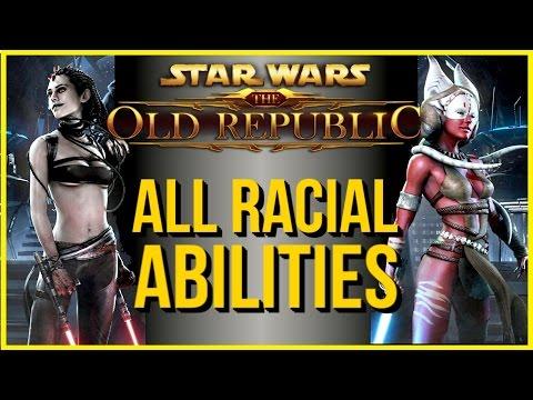 SWTOR ► All Racial Social Abilities