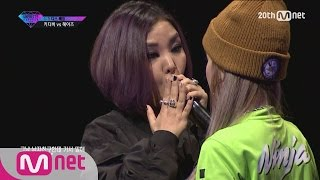 [Korean Reality Show UNPRETTY RAPSTAR2] Diss Battle Kitti B vs Heize l Kpop Rap Audition  EP.05