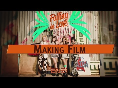 2NE1 - 'FALLING IN LOVE' M/V Making Film