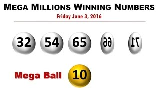 Mega Millions Lotto Winning Numbers for Friday, June 3, 2016