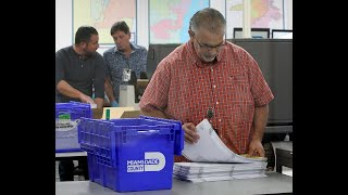 Miami-Dade begins race to recount 800,000 ballots in three close Florida elections.