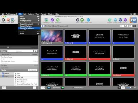 ProPresenter 6: Importing and Exporting