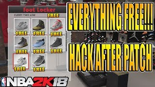 NBA 2K18 *NEW* EVERYTHING FREE GLITCH AFTER PATCH!!!😱 ALL THINGS INSIDE OF THE STORE FOR FREE
