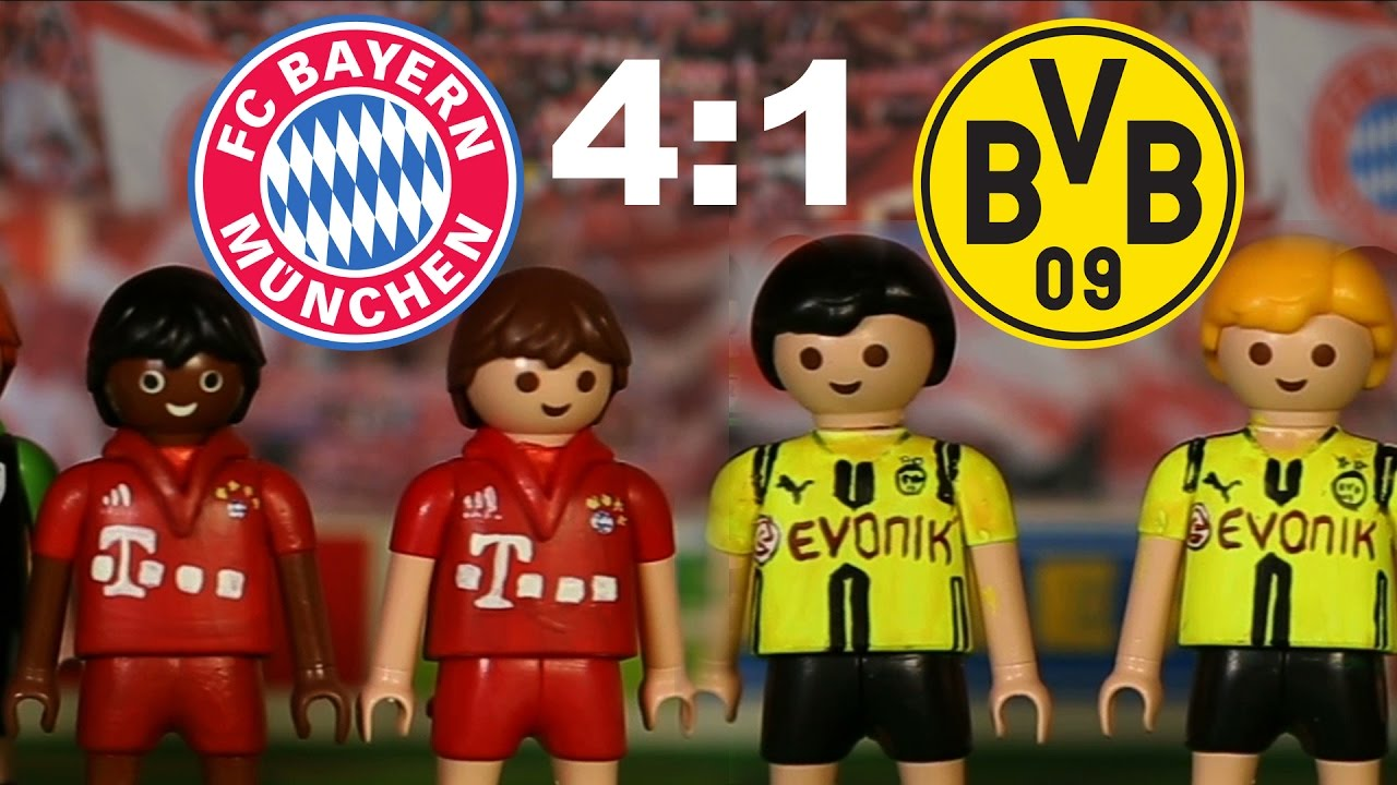 Bayern Munchen Borussia Dortmund 4 1 Playmobil Fussball Bundesliga Highlights Stop Motion Deutsch