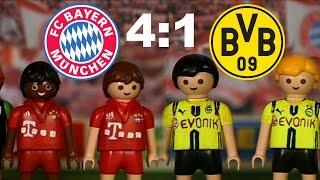 ⚽BAYERN MÜNCHEN - BORUSSIA DORTMUND 4:1 PLAYMOBIL Fussball Bundesliga Highlights Stop Motion deutsch