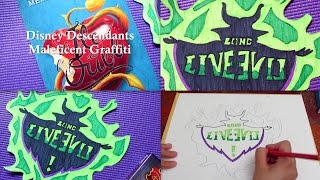 Halloween 2015 - DIY : Disney Descendants Maleficent Graffiti