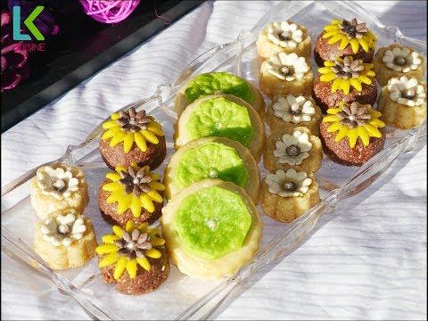 جديد ثلاث اشكال حلويات باللوز لذيذة وبسيطة
