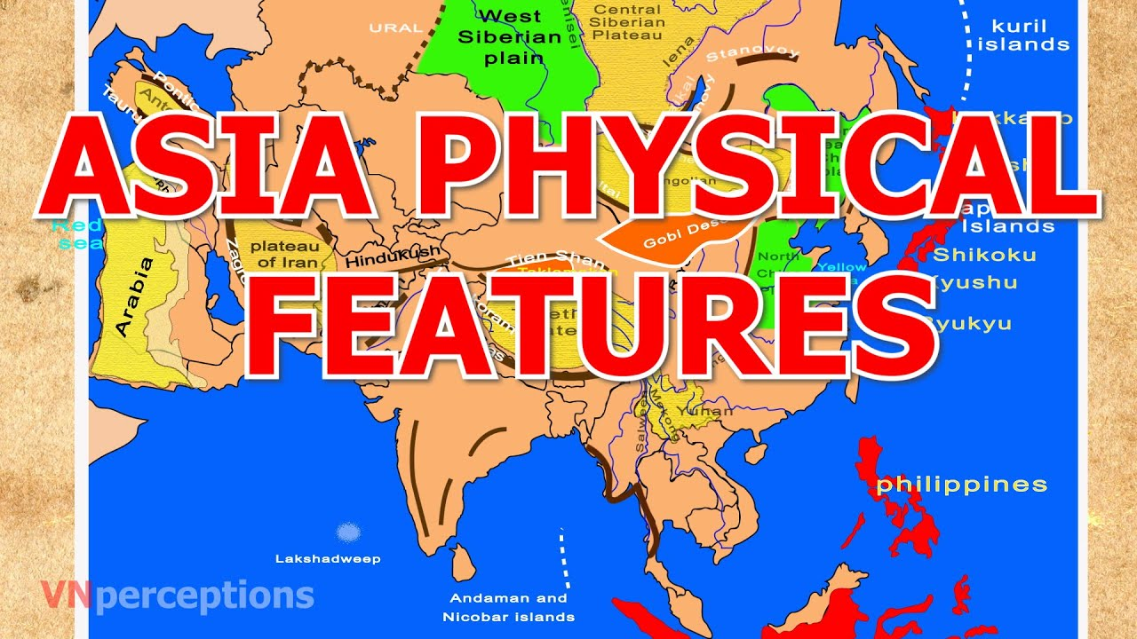 Map Of Central Asia Physical Features.Asia Physical Features Youtube