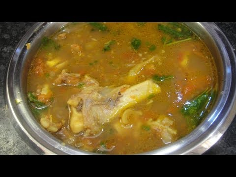 How to make mutton soup at home in tamil