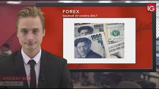 Bourse - USD/JPY, le Yen se renforce - IG 20.10.2017