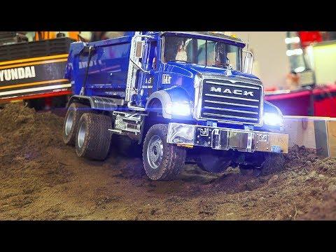 RC MODEL TRUCK & CONSTRUCTION SITE ACTION!! *RC DOZER, RC EXCAVATOR, RC MACK