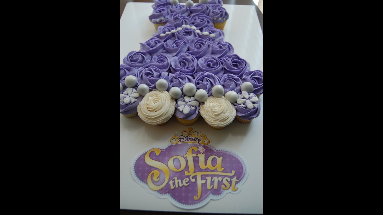 Blue Princess Dress Cupcake Cake
