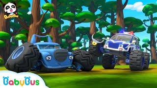 Monster Cars' Forest Exploration | Baby Panda's Crystal Cave Adventure | Monster Truck | BabyBus