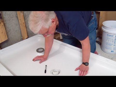 How To Relocate Shower Drain Part 2