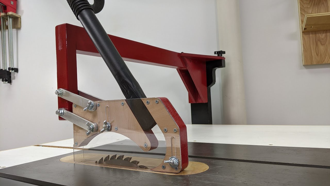 Over Arm Dust Collection For My Table Saw Youtube