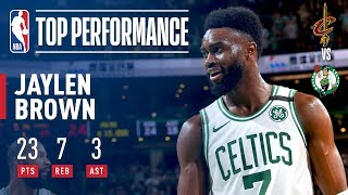 Jaylen Brown Leads Celtics To A 2-0 Series Lead vs The Cavaliers