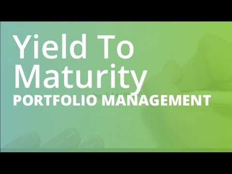 how to find yield to maturity