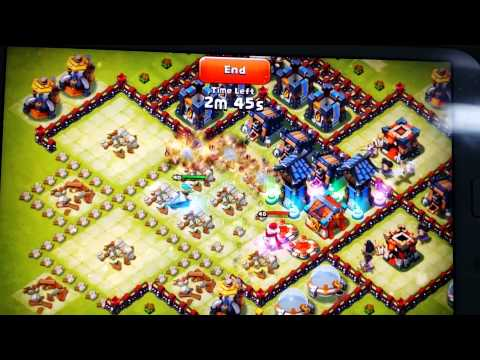 Castle Clash Base Getting Raided By Serpent Queen