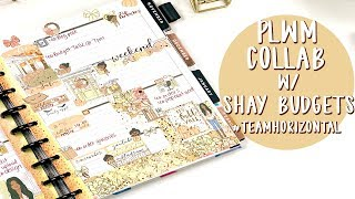 Plan With Me Collab w/ Shay Budgets | Horizontal Planning
