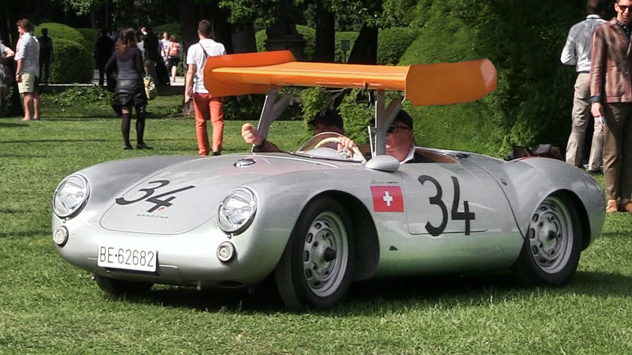 The First Winged Porsche 1955 Porsche 550 RS Spyder Start Up \u0026 Driving