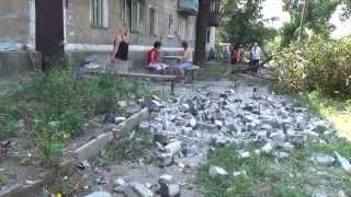 Обстрел Макеевки (район Червоногвардейского военкомата) / The shelling of Makeyevka