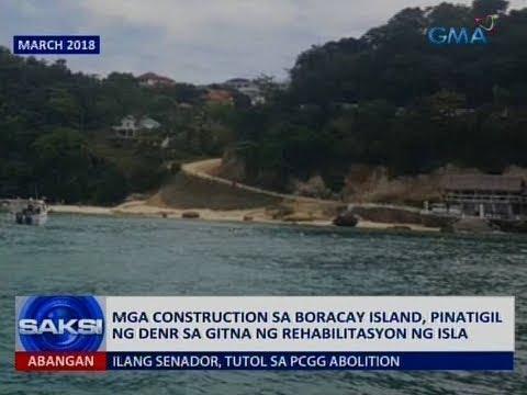 Saksi: Mga construction sa Boracay Island, pinatigil ng DENR sa gitna ng rehabilitasyon ng isla