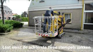 Spinhoogwerker demonstratie (Hinowa 14m.) | Lemerij Verhuur