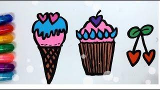 컵케이크 그리기 색칠하기ㅣ 색깔 영어 배우기 ㅣ 보보토…