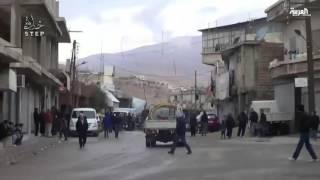 النظام يلقي عشرات البراميل المتفجرة على مناطق في وادي بردى