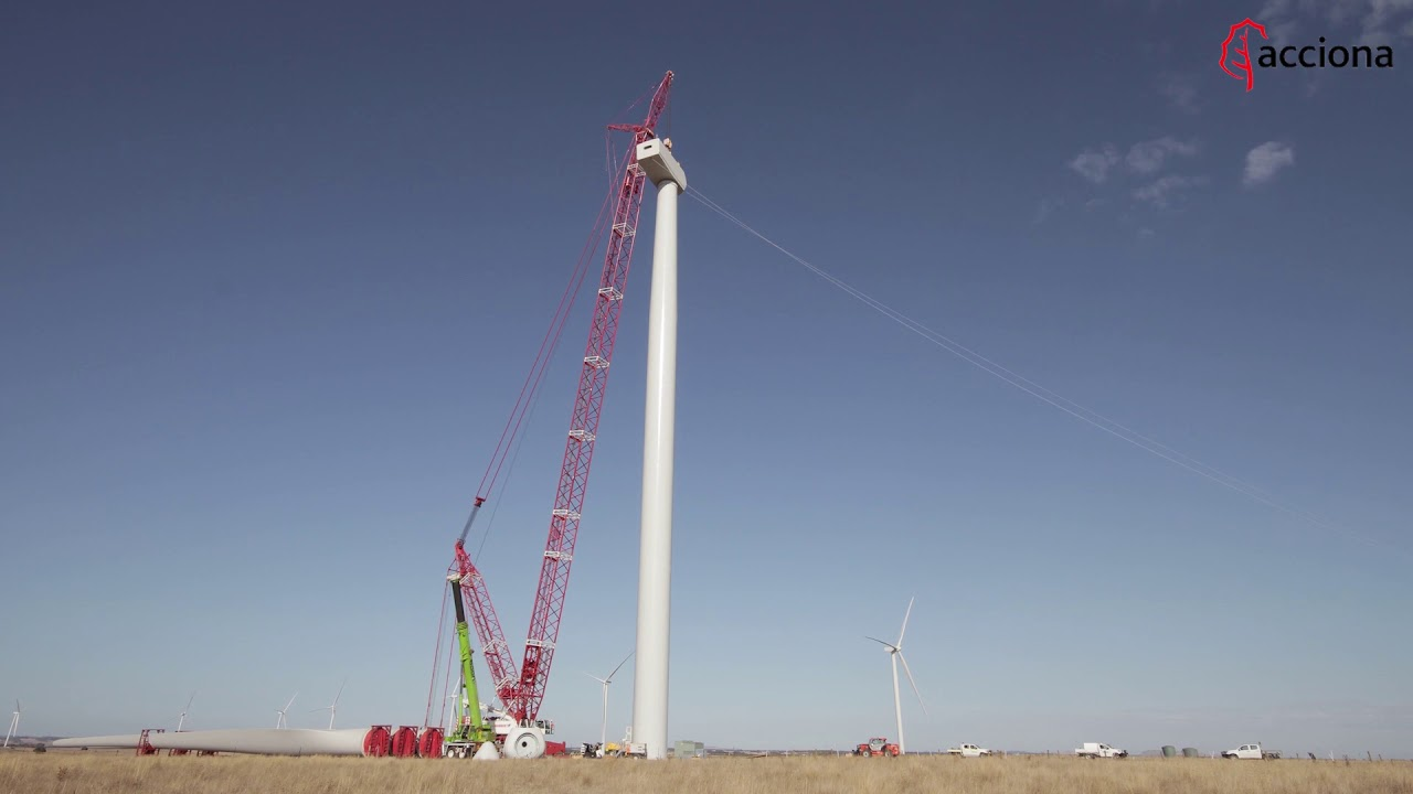 Construction of the Mt. Gellibrand wind farm