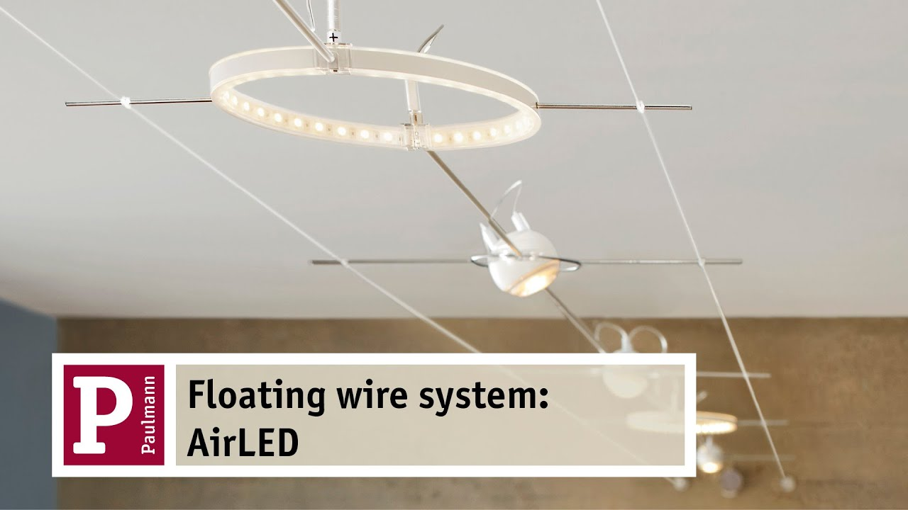 airled the floating wire system youtube. Black Bedroom Furniture Sets. Home Design Ideas