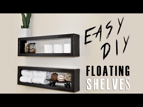 Build and Mount Your Own Floating Shelves for About Seven Bucks