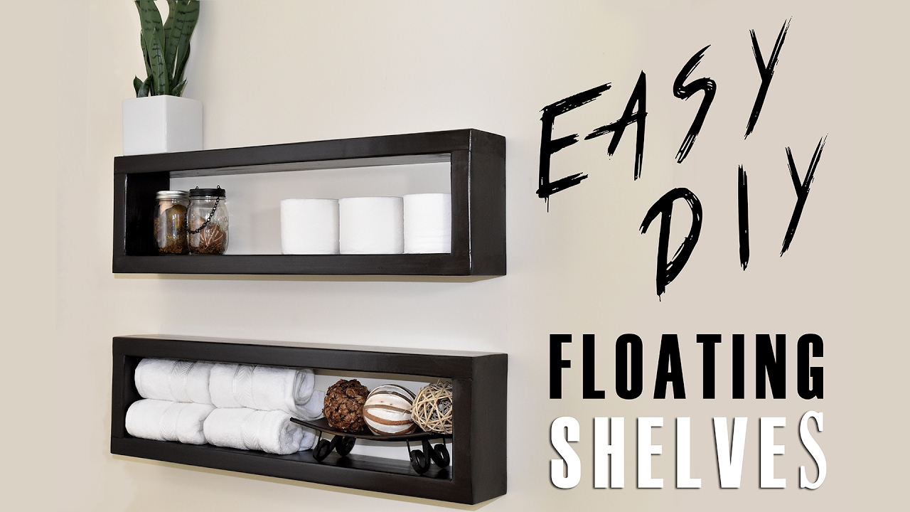 Floating Bookshelves $7 diy floating shelf - youtube