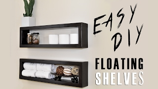 $7 DIY Floating Shelf