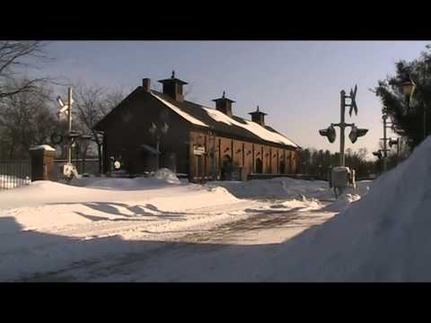 Thumbnail: Amtrak trains in the snow 2/15/2015