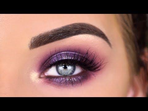 ABH Jackie Aina  + Carli Bybel Palettes | Purple Glitter Eyeshadow Tutorial thumbnail
