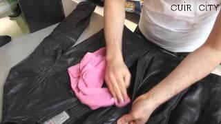 comment laver blouson cuir