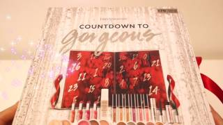 SPOILER! Unboxing 2016 bareMinerals Advent Calendar Countdown to Gorgeous 24 beauty goodies