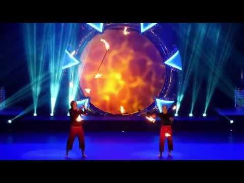 Niko & Kasmir fire staff juggling act