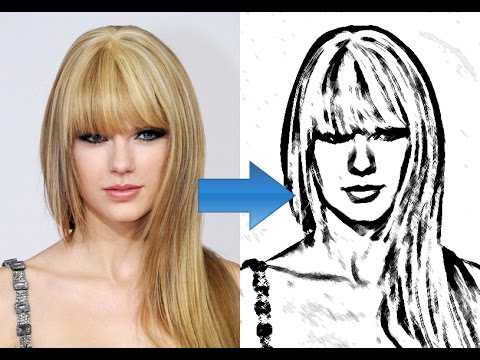 Photoshop How To Convert Photo To Line Drawing Youtube