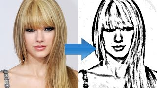 Photoshop How to Convert Photo to Line Drawing