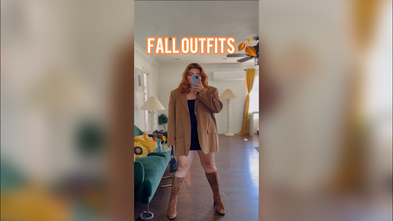 PLUS SIZE THRIFTED FALL OUTFITS🍂🧡 #shorts #youtubeshorts #outfit