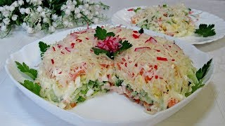 Самый вкусный весенний салат! Готовится просто и быстро!\The most delicious spring salad