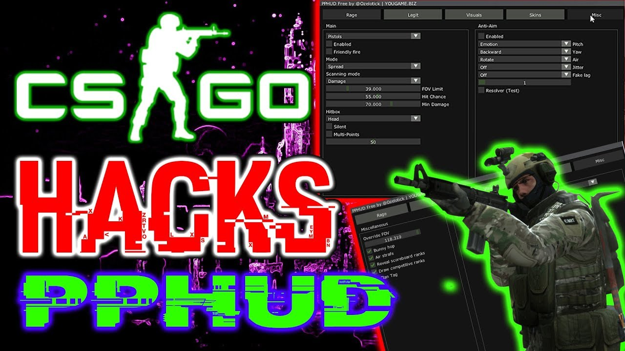 CSGO HACKS|PPHUD|AMAZING CHEAT!|LEGIT|RAGE|HVH|AIMBOT|ESP|FREE DOWNLOAD +  CONFIGS|2019